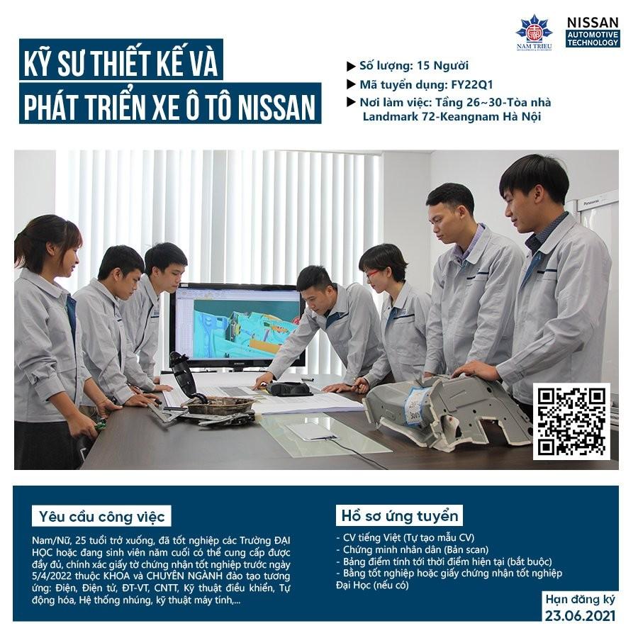 Công ty TNHH Nissan Automotive Technology Viet Nam (NATV) tuyển dụng